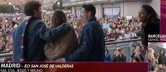 OT 2002 - Nia, Jesús, Bruno y Eva en su primera toma de contacto con los fans de Madrid