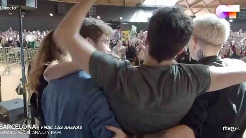 Fin de la firma de discos de los chicos de Operación Triunfo en Barcelona