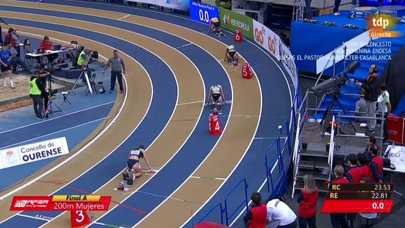 Paula Sevilla, campeona de España de 200 metros lisos