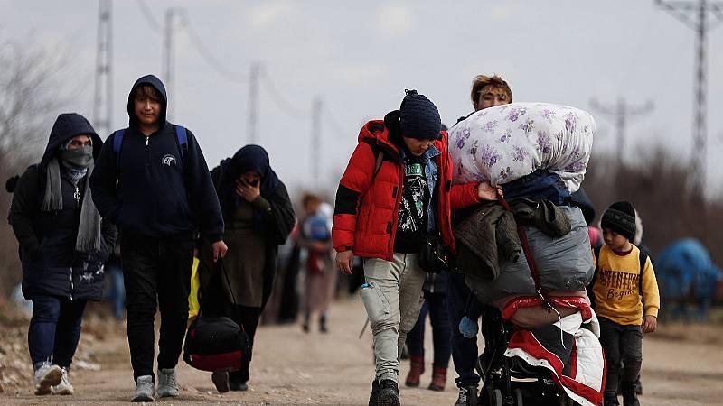 Crece la presión migratoria en la frontera entre Turquía y Grecia