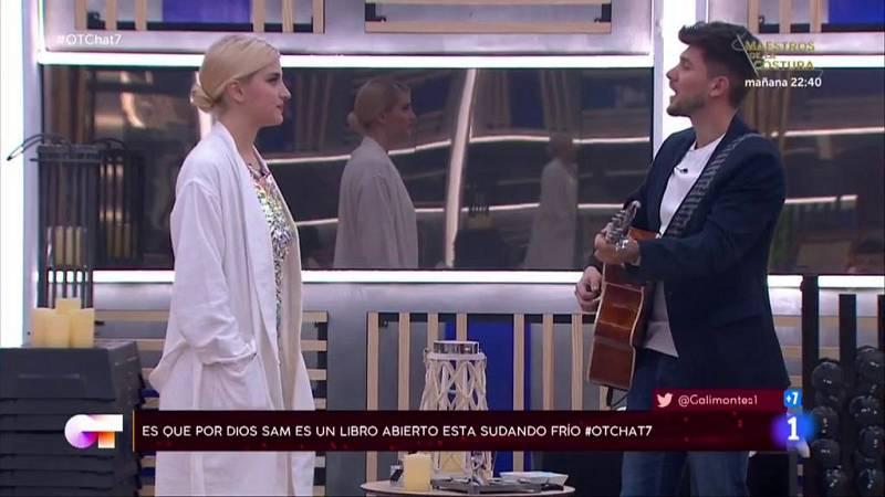 """Samantha se reencuentra con Carlos Right y cantan juntos en """"El Chat"""" de la Gala 7"""