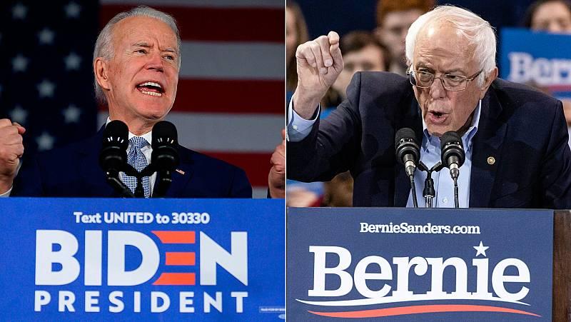 Biden y Sanders lideran la carrera demócrata en EE.UU. tras la renuncia de varios candidatos antes del 'Supermartes'