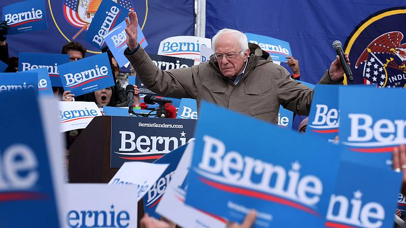 Sanders y Biden, los favoritos en el 'supermartes' demócrata.