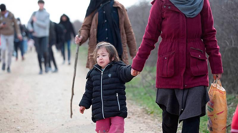 La crisis de los refugiados desde la frontera de Turquía