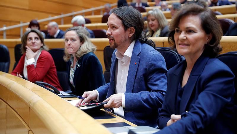 """El PSOE defiende que no """"no hay machistas"""" en el Gobierno tras las críticas de Iglesias por la ley de libertad sexual"""