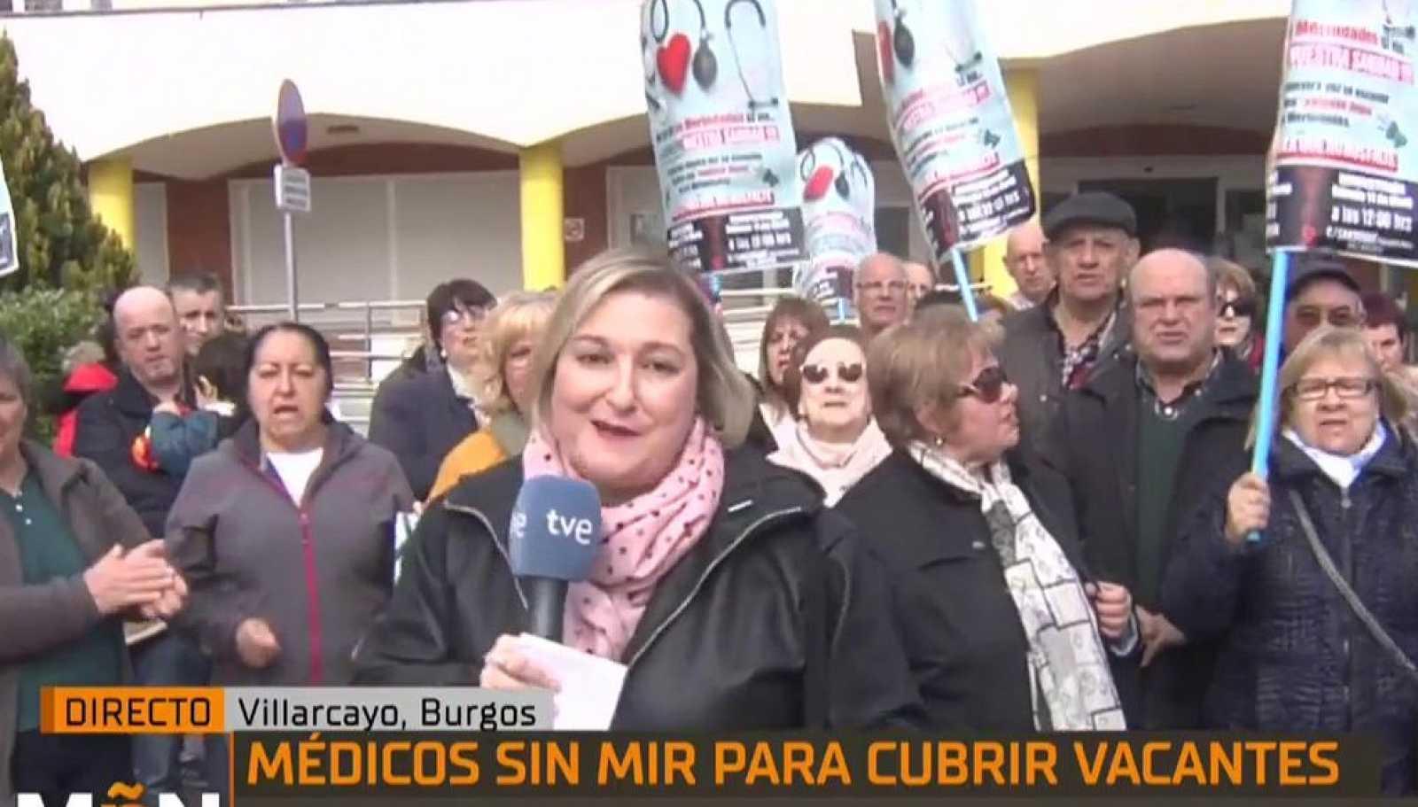 La Mañana - Los vecinos de Villarcayo protestan por las escasas atenciones sanitarias