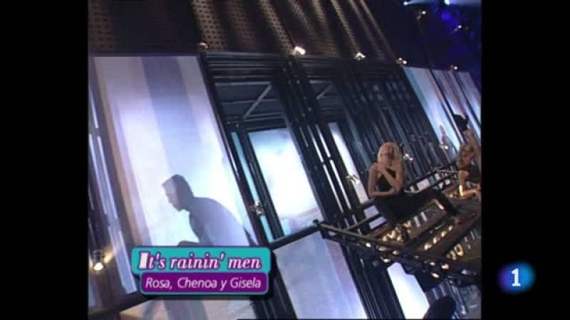 """Gisela, Chenoa y Rosa cantan """"It's Raining Men"""" en OT 2001"""