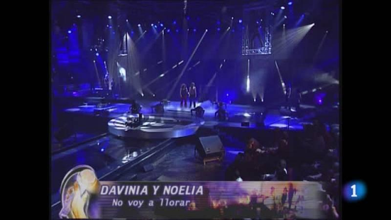 """Noelia y Davinia de OT 2003 cantan""""No voy a llorar"""""""