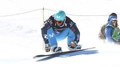 Lucas Eguibar gana el boardercross de la Copa del Mundo en Sierra Nevada