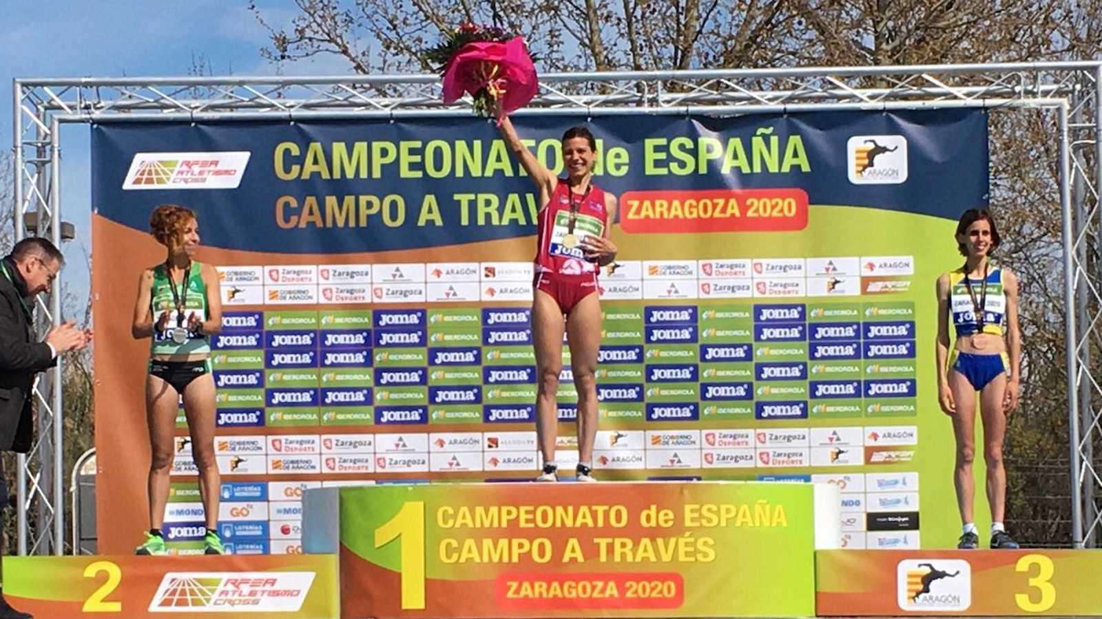 Irene Sánchez-Escribano, campeona de España de cross por primera vez