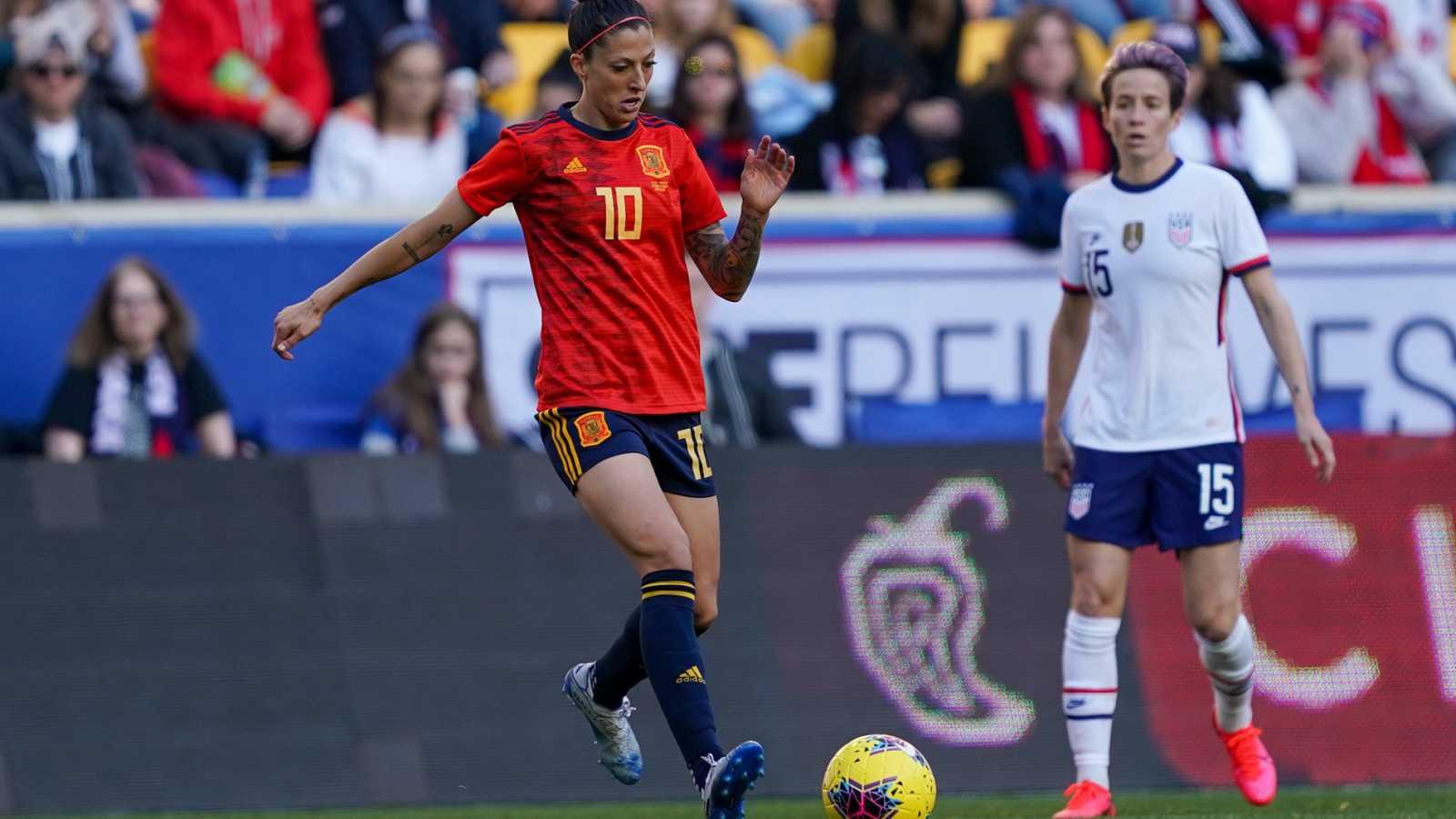 La mejor ocasión de España ante Estados Unidos: Jenni Hermoso, al palo