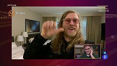 """OT 2020 - Gèrard alucina con el saludo que le manda Allen Stone en """"El Chat"""""""