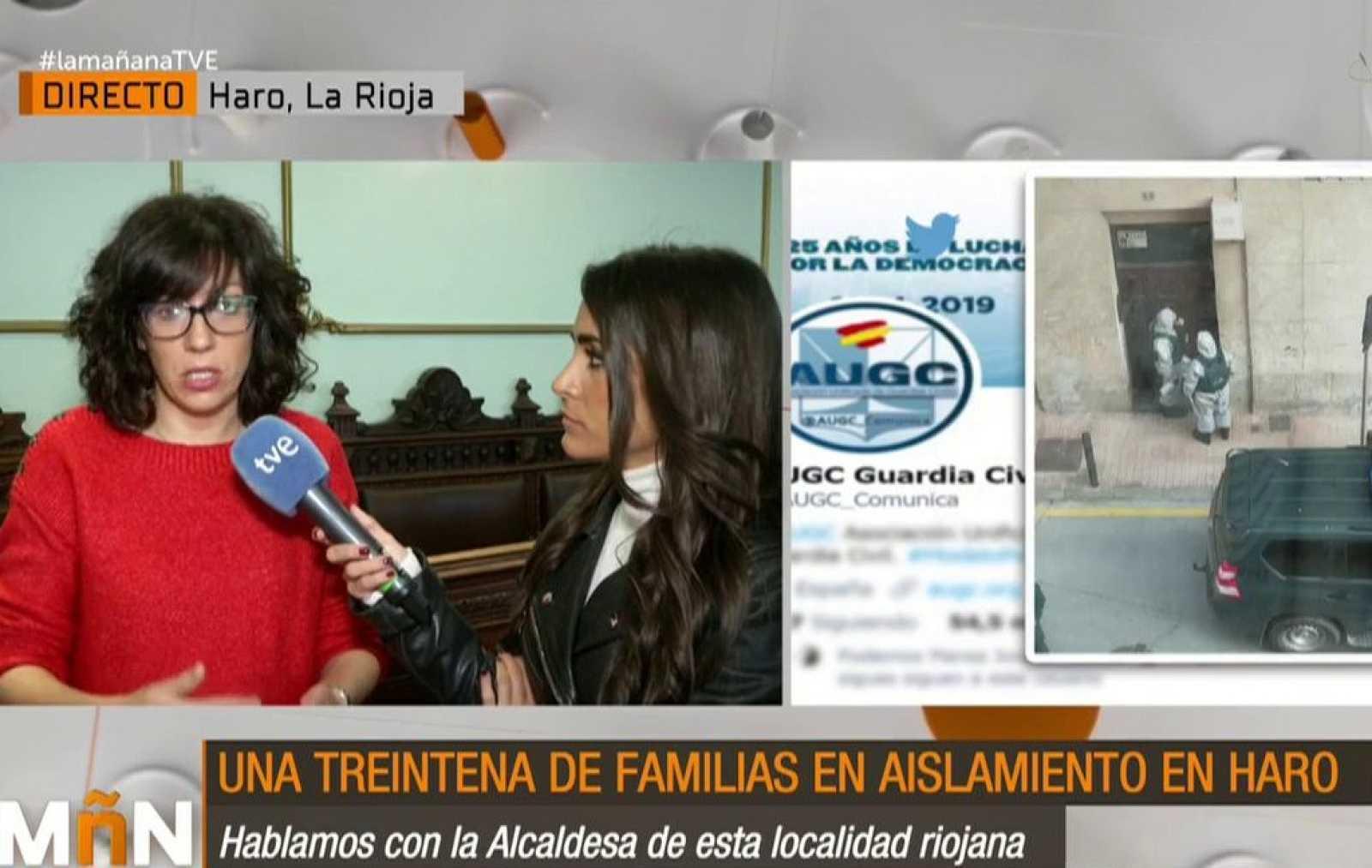 "La Mañana - La alcaldesa de Haro da un mensaje de ""tranquilidad"""