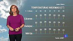 El tiempo en Extremadura - 09/03/20