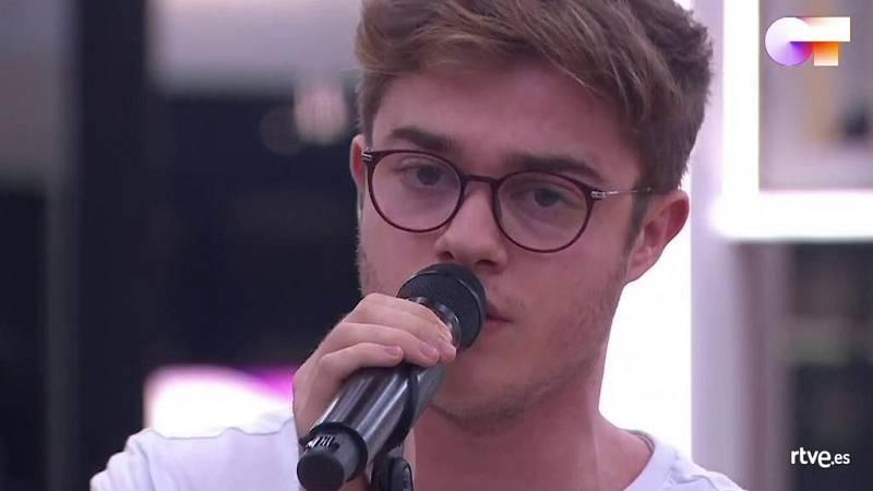 Gèrard canta Someone You Loved, de Lewis Capaldi, en el primer pase de micros de la Gala 9 de Operación Triunfo 2020