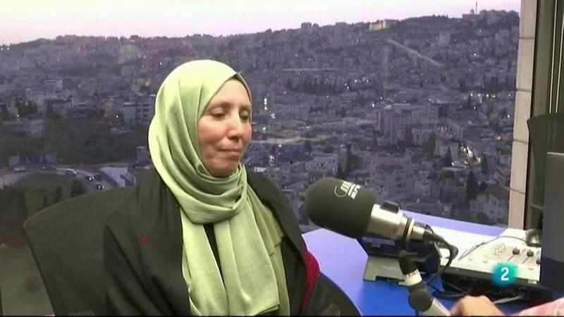 Una mujer hijab en el Parlamento de Israel