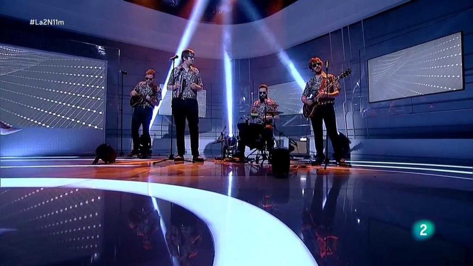"""Los Mejillones Tigre cantan """"La Avioneta"""" en La 2 Noticias"""