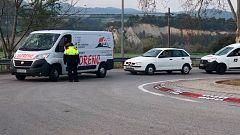 Los Mossos controlan los accesos a Igualada y a otros tres municipios confinados por el coronavirus