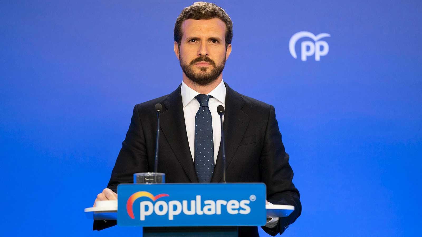 """Casado apoya el estado de alarma pero reprocha a Sánchez """"negligencias"""""""