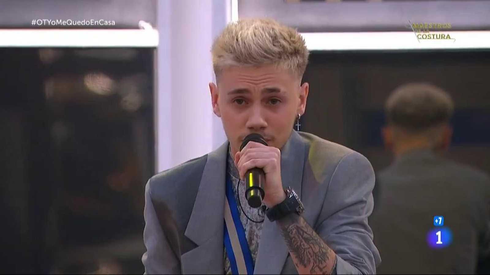"""Hugo canta """"Heroes"""", de Måns  Zelmerlow, en la Gala OTYoMeQuedoEnCasa de Operación Triunfo 2020"""