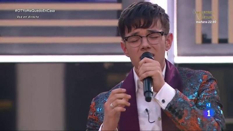 """Flavio canta """"Suspicious Minds"""" en la Gala OTYoMeQuedoEnCasa de Operación Triunfo 2020"""