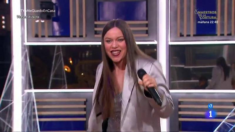 """Eva canta """"Hoy la bestia cena en casa"""", de Zahara, en la Gala OTYoMeQuedoEnCasa de Operación Triunfo 2020"""