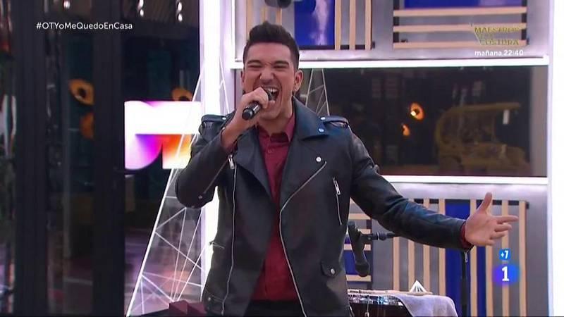 """Bruno canta """"Quiero tener tu presencia"""", de Seguridad Social, en la Gala OTYoMeQuedoEnCasa de Operación Triunfo 2020"""