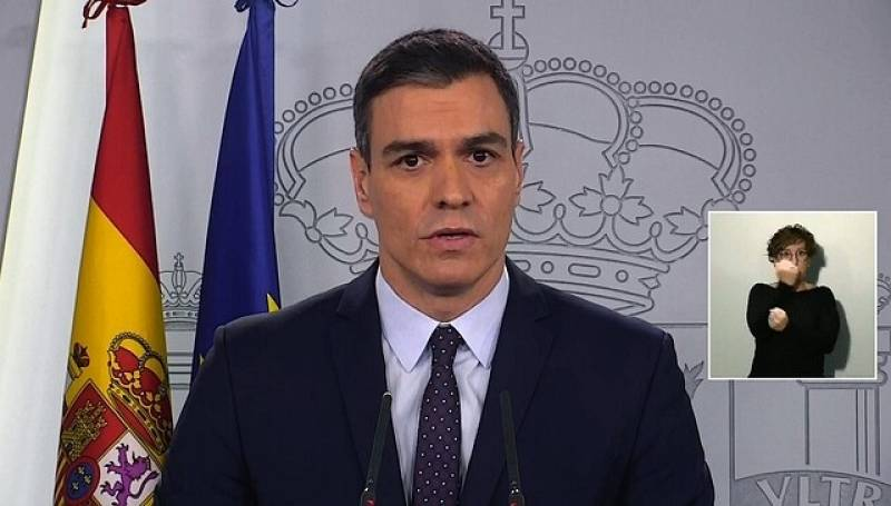 """Pedro Sánchez: """"Los ERTE serán considerados fuerza mayor y los trabajadores tendrán derecho a la prestación por desempleo"""""""
