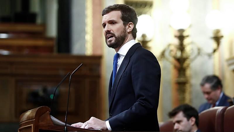 """Casado, a Sánchez: """"No estás solo para hacer frente a esta crisis. Tiempo habrá para la crítica"""""""