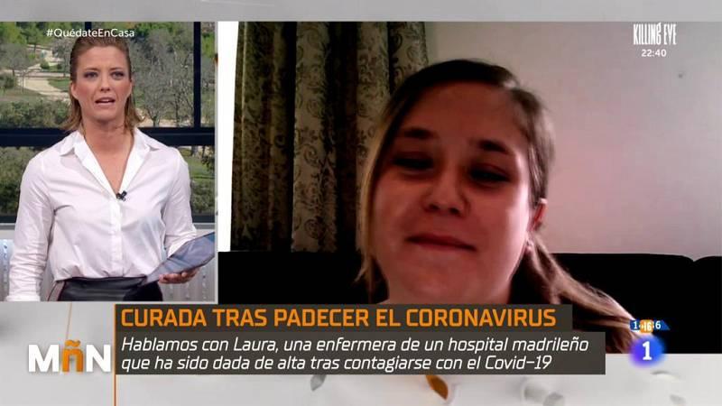 Laura, enfermera curada tras padecer el coronavirus