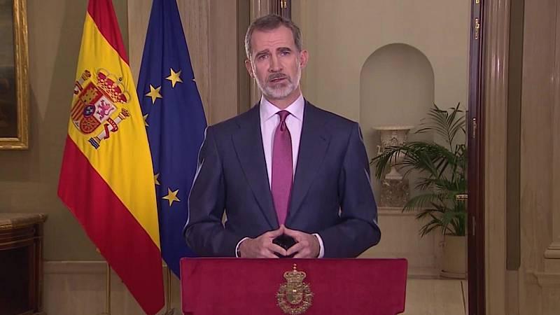 Especial informativo - Coronavirus. Mensaje a la Nación del Rey Felipe VI - 18/03/20 - Lengua de signos - ver ahora