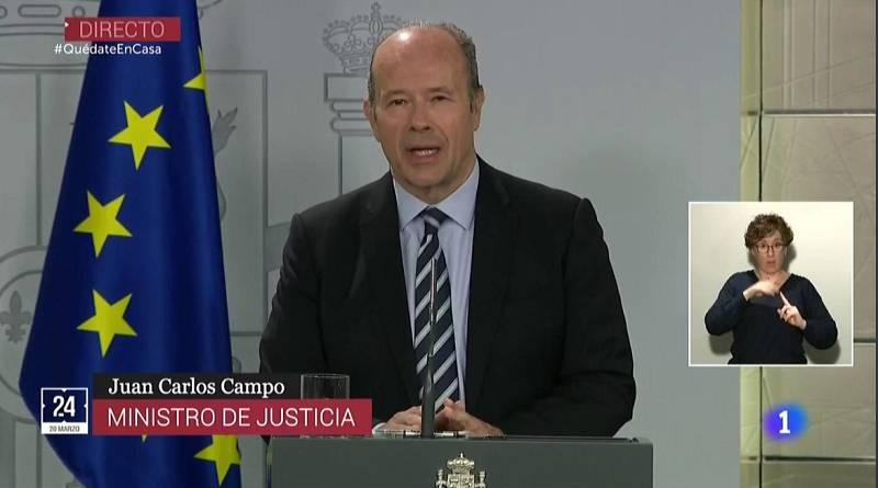"""Vídeo: Justicia limitará su actuación a """"procesos urgentes y preferentes en los que se alegue vulneración de derechos fundamentales"""""""