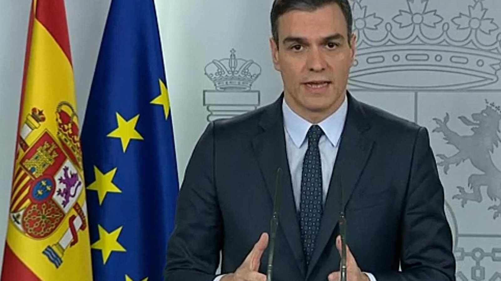 Vídeo: Sánchez anuncia que ampliará el estado de alarma hasta el 11 de abril