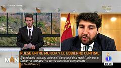 """López Miras: """"Le pedí a Sánchez cerrar toda actividad no esencial"""""""