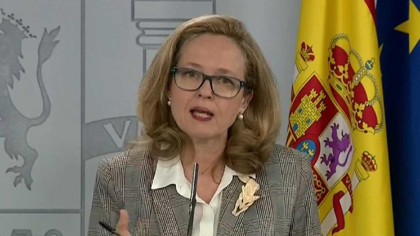 """Nadia Calviño descarta el """"cierre total"""" de la actividad como medida contra el coronavirus"""