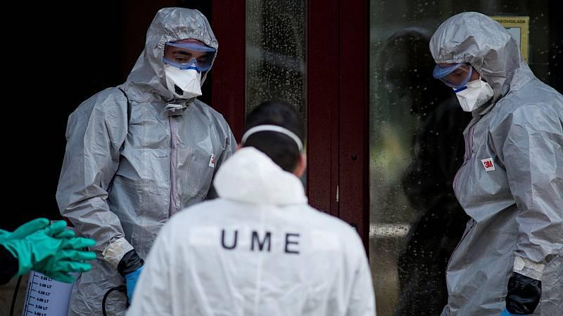 El Ejército halla cadáveres de ancianos en residencias de mayores durante las labores de desinfección