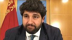 """López Miras: """"No estamos exigiendo nada que suponga bloquear Murcia o el país"""""""