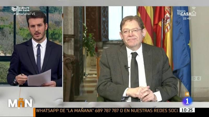 """Ximo Puig: """"Nosotros lo que hemos hecho es complementar aquello que no nos puede facilitar el Gobierno"""""""