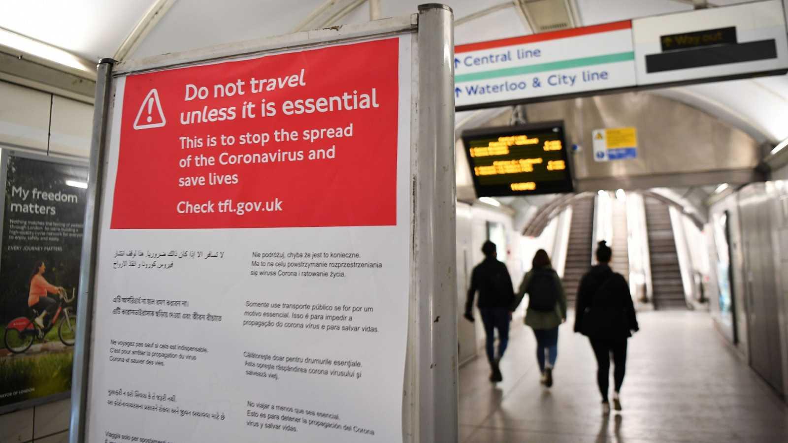 El Reino Unido comienza sus tres semanas de aislamiento por el coronavirus
