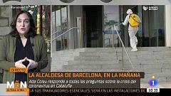 Ada Colau confirma que el Ayuntamiento de Barcelona ya trabaja en la habilitación de cuatro pabellones como hospitales