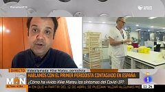 Kike Mateu, el paciente 0 de la Comunidad Valenciana, acaba de recibir el alta médica