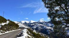 Nevadas en el entorno de Castilla-La Mancha y nordeste de Andalucía