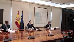 """Pedro Sánchez sobre servicios esenciales: """"Hay que rebajar la movilidad a la de los fines de semana"""