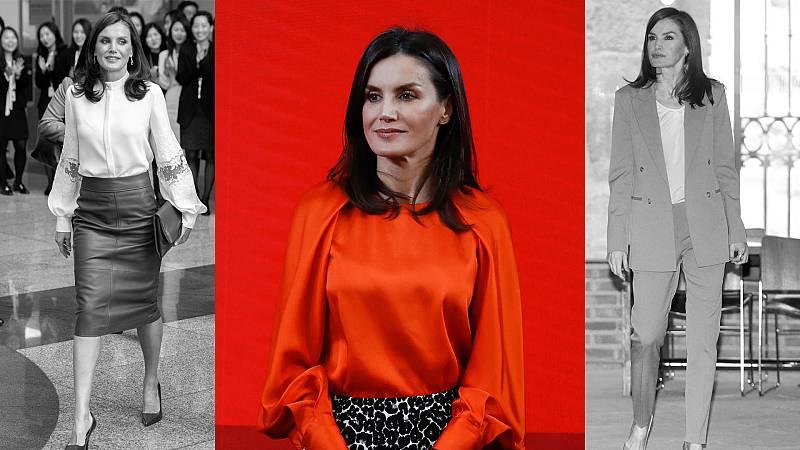 Los mejores estilismos 'working' de la reina Letizia