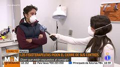 Los fisioterapeutas piden el cierre de sus centros debido al alto riesgo de contagio