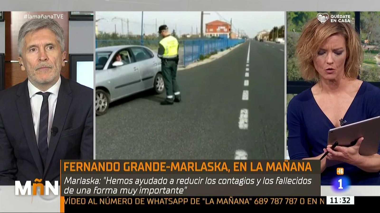 """Fernando Grande - Marlaska, en La Mañana: """"España es el país que más test está haciendo"""""""