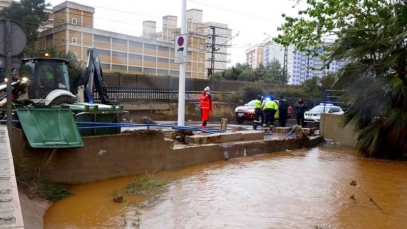 Récord de precipitación en un día de primavera en la provincia de Castellón