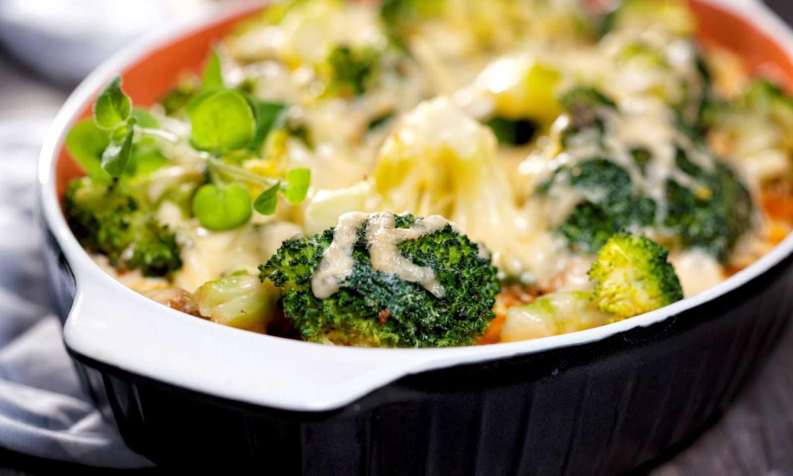 Receta de coliflor y brócoli al horno