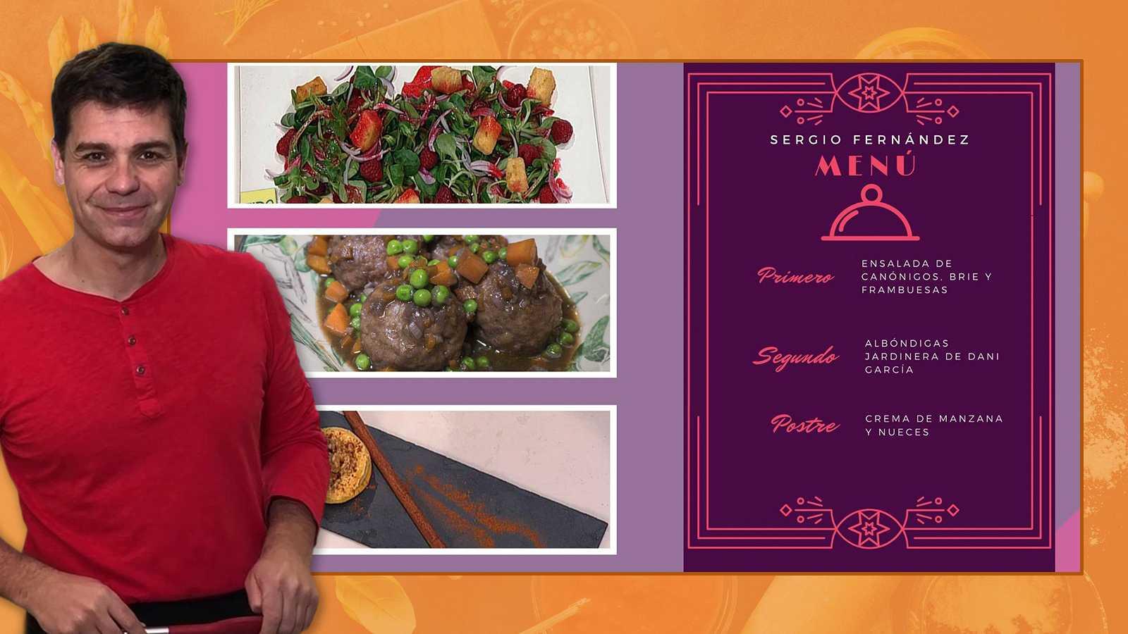 Recetas de cuarentena con Sergio - El menú de Sergio Fernández para cocinar en cuarentena