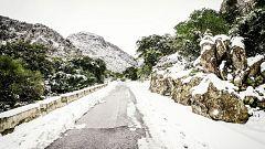 Nevadas en zonas de montaña de Andalucía oriental